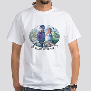 Planet of the Pigs White T-shirt