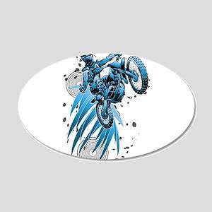 blue psycho dirt biker Wall Decal
