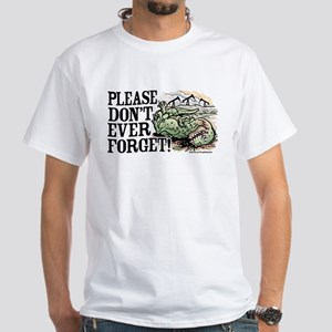 Don't Forget Dinosaurs White T-shirt 2