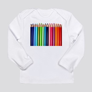 rainbow colored pencils white Long Sleeve T-Shirt
