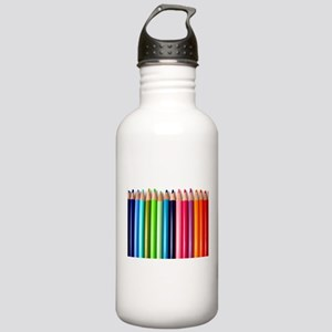 rainbow colored pencil Stainless Water Bottle 1.0L