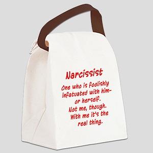 Funny Narcissist design Canvas Lunch Bag