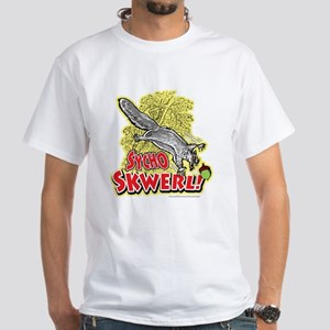Sycho Skwerl Squirrel White T-shirt Yellow