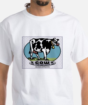 Retro Cow White T-shirt