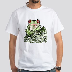 Frogs Rule White T-shirt