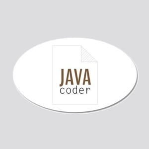 Java Coder Wall Decal