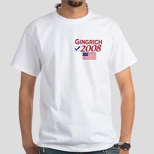 Newt Gingrich 2008 Gear White T-shirt