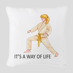 WAY OF LIFE Woven Throw Pillow