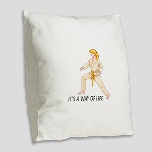 WAY OF LIFE Burlap Throw Pillow