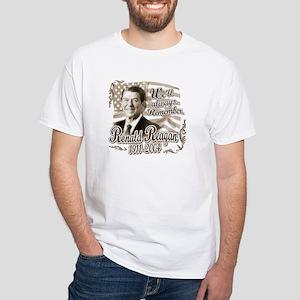 Ronald Reagan Tribute White T-shirt 3