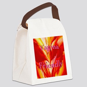 2-vaginafriendlyblock Canvas Lunch Bag
