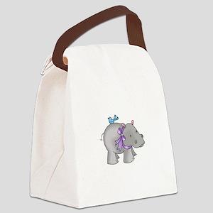 NOAHS HIPPO Canvas Lunch Bag