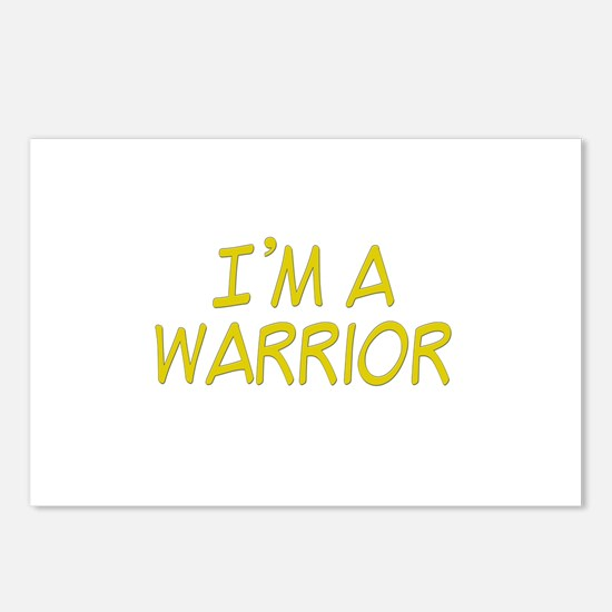 I'm A Warrior [Yellow] Postcards (Package of 8)