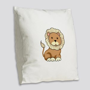 NOAHS LION Burlap Throw Pillow