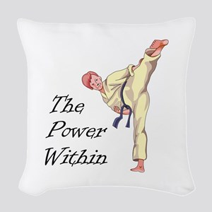 THE POWER WITHIN Woven Throw Pillow