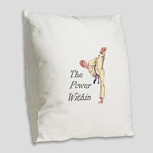 THE POWER WITHIN Burlap Throw Pillow