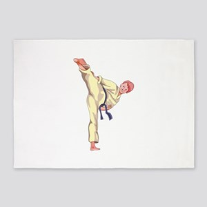 MARTIAL ARTS BOY 5'x7'Area Rug