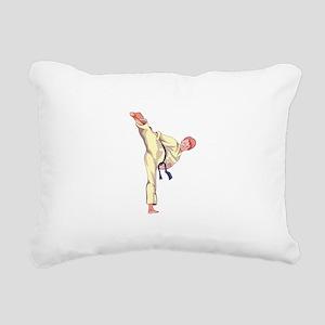 MARTIAL ARTS BOY Rectangular Canvas Pillow
