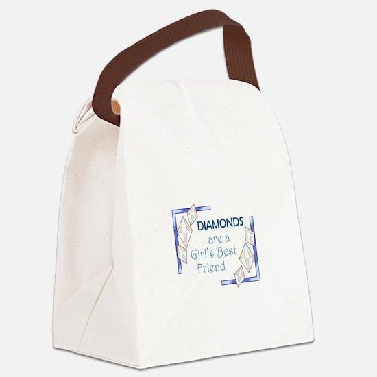 GIRLS BEST FRIEND Canvas Lunch Bag