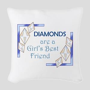 GIRLS BEST FRIEND Woven Throw Pillow