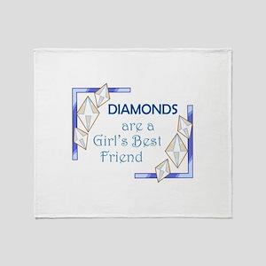 GIRLS BEST FRIEND Throw Blanket