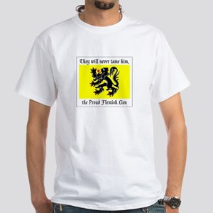 Proud Flemish Lion White T-shirt