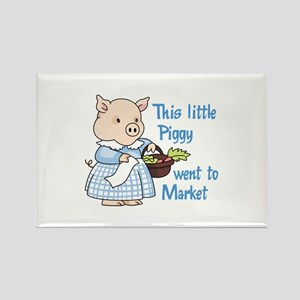 PIGGY WENT TO MARKET Magnets
