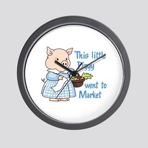 PIGGY WENT TO MARKET Wall Clock