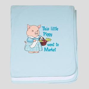 PIGGY WENT TO MARKET baby blanket