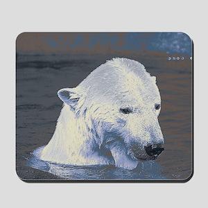 Swimming Polar Bear Mousepad