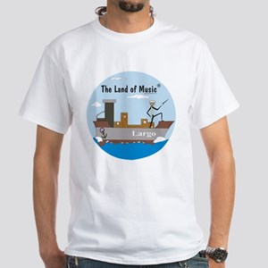 Bartok Baton Largo White T-shirt