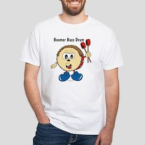 Boomer Bass Drum White T-shirt