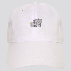 MOTHER AND BABY HIPPO Baseball Cap