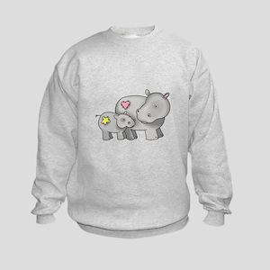 MOTHER AND BABY HIPPO Sweatshirt