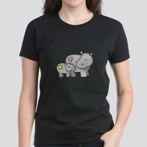 MOTHER AND BABY HIPPO T-Shirt