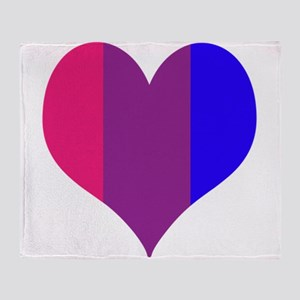 Striped Bisexual Heart Throw Blanket