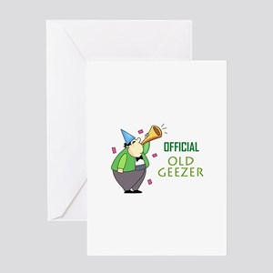 OFFICIAL OLD GEEZER Greeting Cards