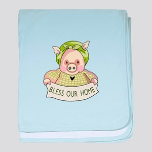 BLESS OUR HOME baby blanket