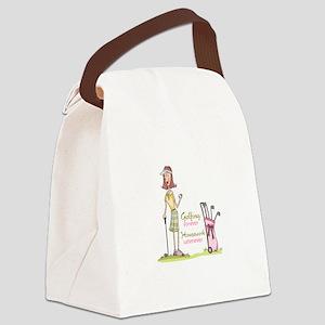 GOLFING FOREVER Canvas Lunch Bag