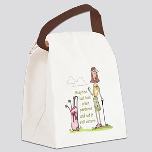 LIE IN GREEN PASTURES Canvas Lunch Bag
