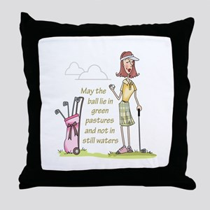 LIE IN GREEN PASTURES Throw Pillow