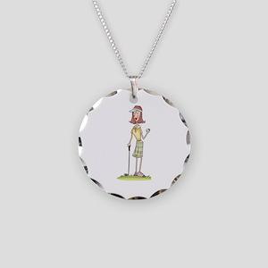 WOMAN GOLFER Necklace