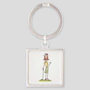 WOMAN GOLFER Keychains