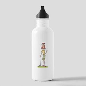 WOMAN GOLFER Water Bottle