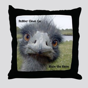 Rubber Clown Car - Make the Noise Throw Pillow