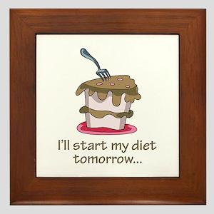 I'll Start My Diet Tomorrow... Framed Tile