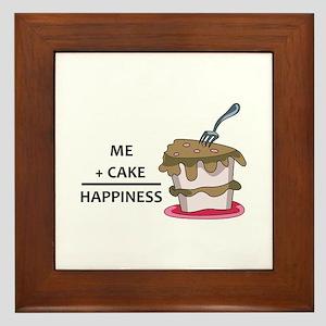 Me + Cake Happiness Framed Tile