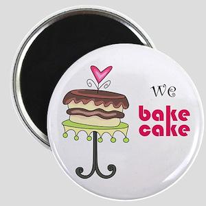 WE BAKE CAKE Magnets
