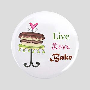 "LIVE LOVE BAKE 3.5"" Button"