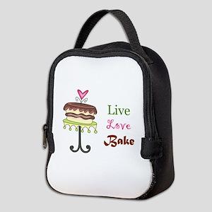 LIVE LOVE BAKE Neoprene Lunch Bag